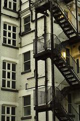 Escape (Pete Ashton) Tags: uk building stairs contrast birmingham fireescape birminghamuk