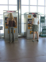 People Buying Train Tickets at the High Speedl...