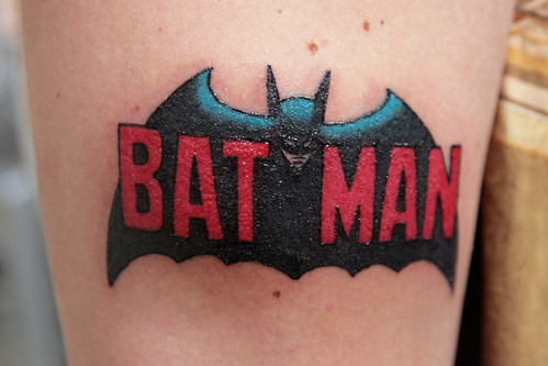 My brother Marlon's brand new Batman tattoo by Kevin Steele