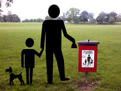 you'll never believe what I saw down at the park today (dr_loplop) Tags: park trees red dog black grass sign mess cleanup things bin stick lobo recursive obligatory figures responsible owner lobotomy obt recursivity nocathere nowmoveon petbutlerfranchise lorobotomulus rebotamus