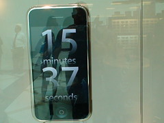 15 Minutes 37 seconds till iPhone is Available
