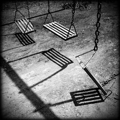 i grew old ((3)) Tags: park old bw swings forgotten artlibre artlibres top20silhouette