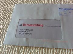 Brief der tageszeitung (taz)