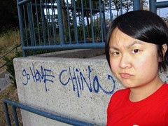 Vancouver | Racist graffiti no. 1: Go Home China (ardenstreet) Tags: china canada me vancouver parkinglot bc rude stupid falsecreek mean racism stupidpeople hairisallaskew heather6th