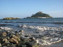 St Michael's Mount, Cornwall (Tracey Paterson) Tags: sea summer england sky holiday castle beach island seaside rocks cornwall waves nationaltrust stmichaelsmount marazion landsacpe photojewels