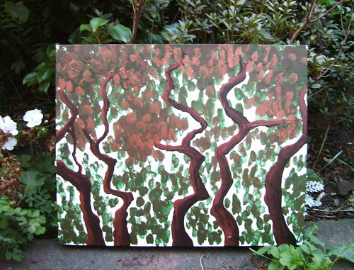 Trees - acrylic painting on canvas
