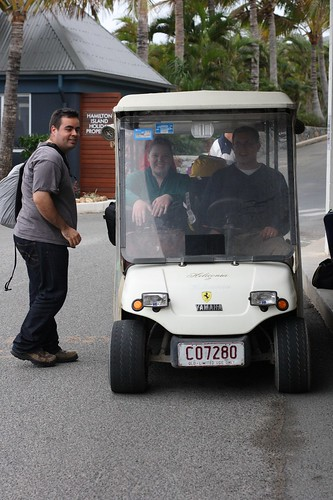 Our buggy on Hamilton Island