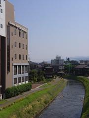 茶郷川と宿泊したホテル