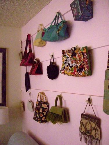 Pink purse wall