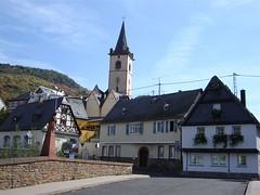 Start of our Rheinsteig hike: the Wisper bridge in Lorch