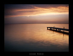 Sunset (cesarmarch) Tags: sunset valencia landscape atardecer reflex spain paisaje olympus lee embarcadero e3 filters reflejos albufera singhray 1260mm cesarmarch