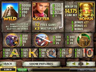 free Azteca Slots slot mini symbol