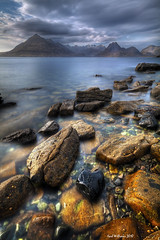 Elgol (3) (Shuggie!!) Tags: longexposure sky seascape mountains skye water clouds landscape scotland bravo rocks long exposure view williams boulders vista karl loch iconic cuillins hdr cuillin elgol scavaig saariysqualitypictures karlwilliams magicunicornverybest