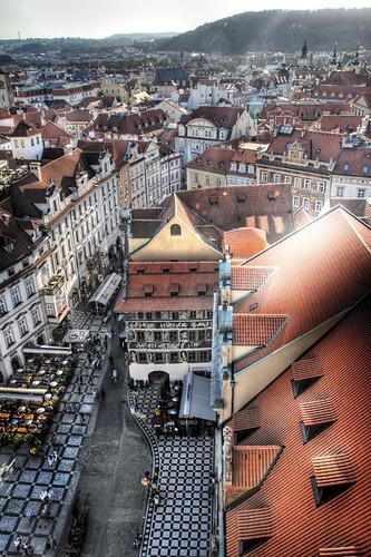 Karlova view. Prague. Vista de Karlova. Praga