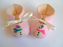 snow woman baby girl shoes-perfect for christmas