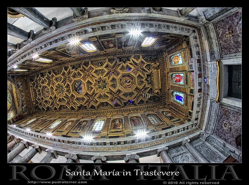Roma - Santa María in Trastevere - Bóveda