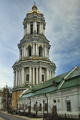 Great Lavra Belltower (Ortaparmak Photography) Tags: church cathedral ukraine monastery kiev kyiv hdr kievpechersklavra  nikond90 greatlavrabelltower tokina1116mm monasteryofcaves kievcavemonastery