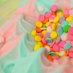 cotton candy dream cream (stOOpidgErL) Tags: stoopidgerl cottoncandy rainbow icecream candy sprinkles pastel food sweet dessert