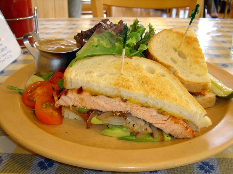 Salmon Melt Sandwich