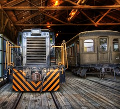 Engine House (Stuck in Customs) Tags: pictures california lighting light panorama art texture colors lines station modern composition train work reflections painting photography intense nikon perfect exposure shoot artist mood photographer shot angle photos unique background details perspective engine atmosphere rail trains images best steam edge processing pro sacramento framing capture tones hdr oldsacramento treatment mostviewed highquality stuckincustoms treyratcliff