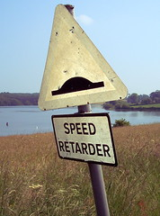 Bit harsh isn't it? (v1ctory_1s_m1ne) Tags: uk summer lake water sign speed derbyshire harold reservoir staunton eastmidlands retarder v1m 090607
