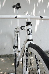 Yamaguchi Kilo Pursuit track bike (SOLD) (Dancing Weapon of Mass Destruction) Tags: road bicycle cycling stand track bob gear jackson fixed yamaguchi pista iro velodrome keirin skid bilenky mercian cinelli hetchins