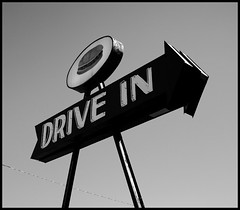drive.in.rice.hill.01.bw (morsteen) Tags: food oregon roseburg drivein hamburgers icecream oldsigns ricehill hamburgerjoint oldneonsigns