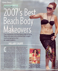 Hilary Duff featured in US weekly magazine