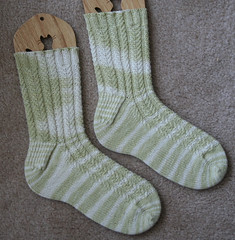 Asparagus Cable Socks 071507