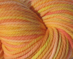 FFS LOTTERY!  Creamsicle 5 oz Bulky Merino Yarn (WW)