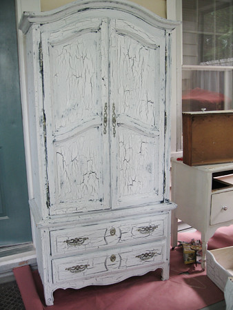 Our new antique armoire
