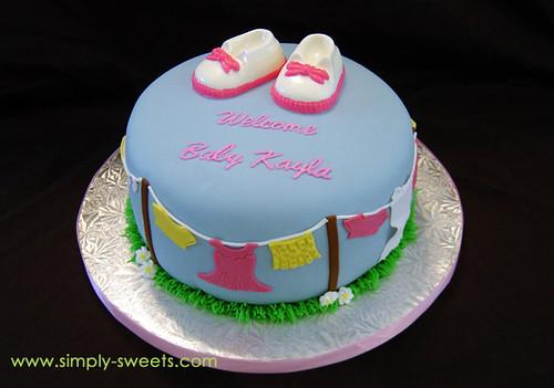 Baby clothesline cake ws