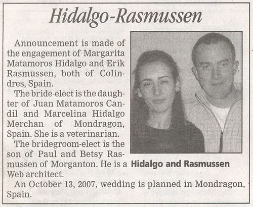 How to write a engagement announcement for the newspaper