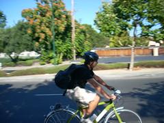Shoreline cyclist