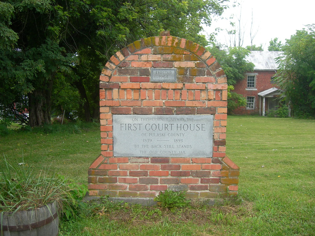First Pulaski County Court House Marker