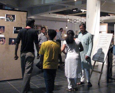 Girish Karnad in the foyer