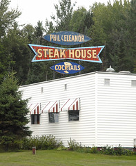 Steakhouse and trees