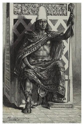 014-Rey Mexicano-Les Anciennes Villes du nouveau monde-1885- Désiré Charnay