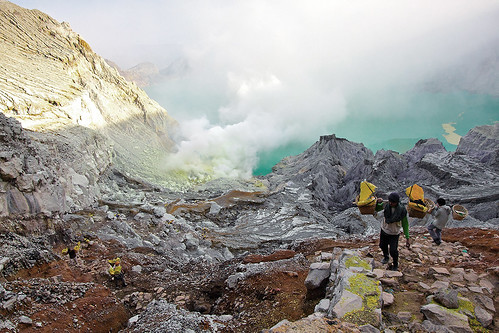behind the beauty of ijen crater