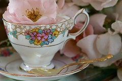 One lump or two? (:KayEllen) Tags: china closeup spoon charm blooms teacup teaparty