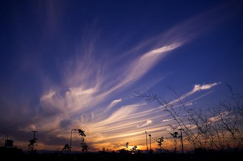 フリー写真素材, 自然・風景, 空, 雲, 夕日・夕焼け・日没, 日本,