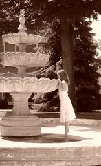 Fountain of Youth (j image) Tags: ballet fairytale wonderful interesting waiting mood superb sweet d empty delete precious oldwoman subject desaturated charming msm timeless lightness blowup thumbelina inquisitive summerholiday fountainofyouth sepiatones littlefairy