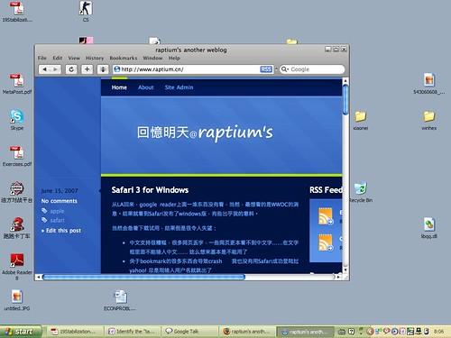 Safari 3 on Windows