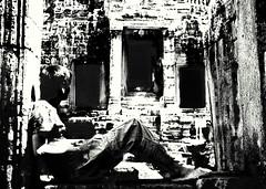 Bayon (shigueo_br) Tags: blakandwhite film cambodia angkor bayon