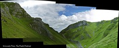 Winnats Pass #1 (Lazlo Woodbine) Tags: autostitch nature landscape countryside derbyshire peakdistrict panoramic caves limestone ravine castleton winnatspass