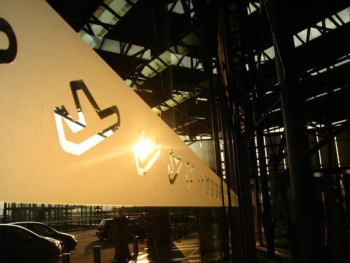 Airplane motifs at Koln/Bonn airport, Germany