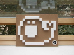 Pixelwhale with 100% reused materials (Stick-A-Thing_____S_____ A_____T) Tags: streetart cute illustration design 3d character cardboard pixel whale styrofoam wal stickathing