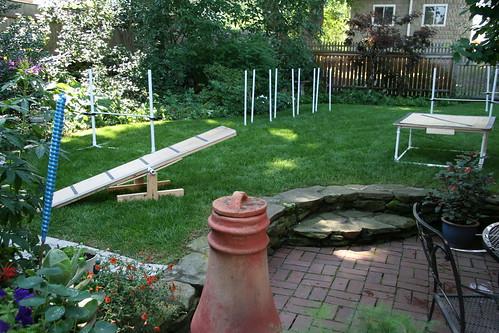 Skippy's Backyard: more home made agility equipment