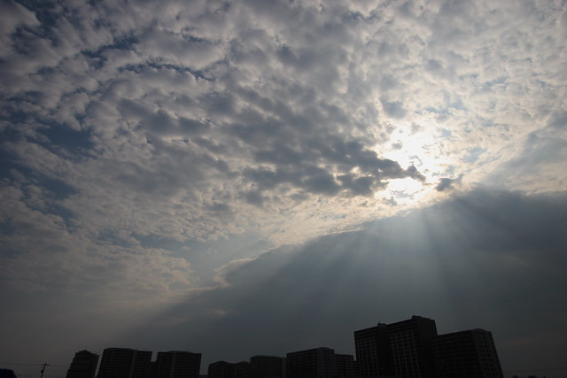 鱗雲の切れ間