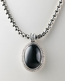 black fashion necklace jewelry diamond onyx pendant davidyurman